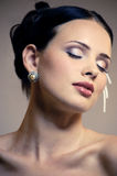 Beautiful female face with makeup Royalty Free Stock Photo