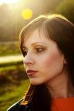 Beautiful female face. Stock Image