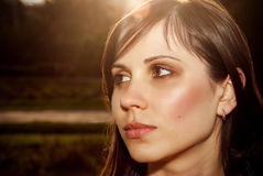 Beautiful female face. royalty free stock images