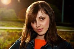 Beautiful female face. stock photography