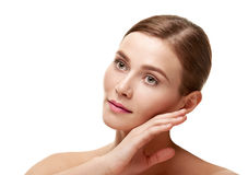 Beautiful female face portrait Stock Photography