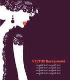 Beautiful female face silhouette in profile. Wedding vector design Royalty Free Stock Images