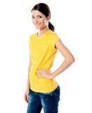 Beautiful female fashion model Stock Images