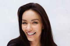 Beautiful female fashion model face Stock Images