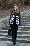 Beautiful female fashion model standing Royalty Free Stock Photos
