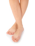 Beautiful female feet Stock Image