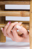 Beautiful female fingernails Royalty Free Stock Image