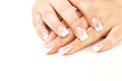 Beautiful female fingernails Royalty Free Stock Photo