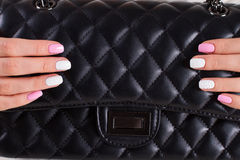 Beautiful female fingernails. Royalty Free Stock Photography