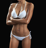 Beautiful female fitness model Stock Photos