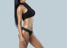 Beautiful female fitness model. Studio shot Stock Image