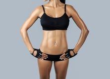Beautiful female fitness model Royalty Free Stock Image