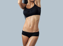 Beautiful female fitness model Royalty Free Stock Photo
