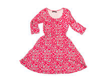 Beautiful female flowered dress Stock Images