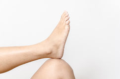 Beautiful female a foot and a heel Stock Image