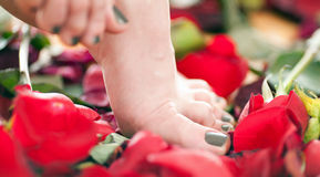 Beautiful female foot Royalty Free Stock Photography