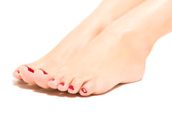Beautiful female foot Stock Photos