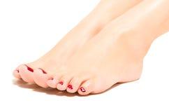 Beautiful female foot Stock Photos