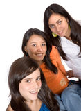 Beautiful female friends Stock Photos