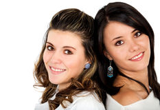 Beautiful female friends Stock Photography