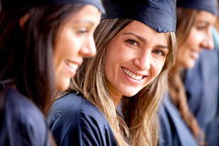 Beautiful female graduate Royalty Free Stock Images