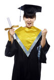 Beautiful female graduate Royalty Free Stock Photos