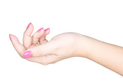 Beautiful female hand with manicure nails Royalty Free Stock Photos