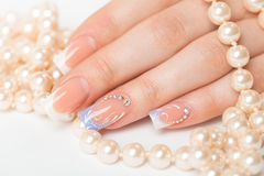 Beautiful female hands with manicure Stock Photography