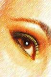 Beautiful female hazel coloured eye stock image