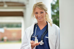 Beautiful female healthcare professional Stock Images