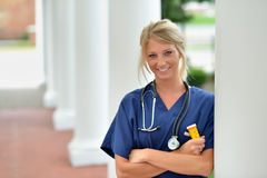 Beautiful female healthcare professional Stock Photo