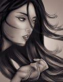 female Illustration. royalty free stock images