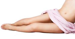 Beautiful female legs royalty free stock photos