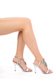 Beautiful female legs Stock Photography