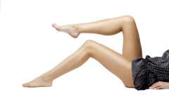 Beautiful female legs barefoot Royalty Free Stock Image
