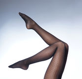 Beautiful female legs in black erotic stockings Royalty Free Stock Photo