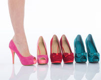 Beautiful female legs in fashion shoes Stock Image