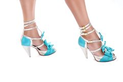 Beautiful Female Legs with Gorgeous High Heels Royalty Free Stock Images