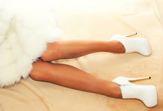 Beautiful female legs in high heels Royalty Free Stock Photo
