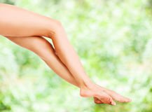 Beautiful female legs Stock Photo