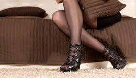 Beautiful female legs Stock Photo