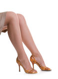 Beautiful female legs in shoes Stock Photo