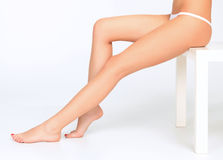 Beautiful female legs Royalty Free Stock Images