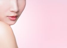 Beautiful female lips closeup Royalty Free Stock Image