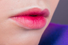 Beautiful female lips Stock Images
