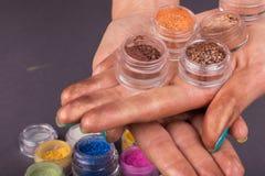 Beautiful female manicure Stock Images
