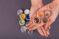 Beautiful female manicure Stock Photo