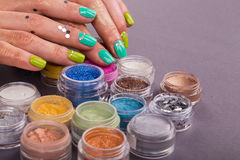 Beautiful female manicure Royalty Free Stock Images