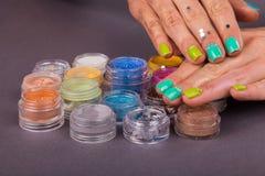Beautiful female manicure Royalty Free Stock Image