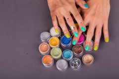 Beautiful female manicure Royalty Free Stock Images